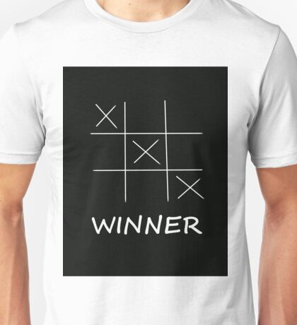 Winner Tic Tac Toe Unisex T-Shirt