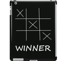 Winner Tic Tac Toe iPad Case/Skin
