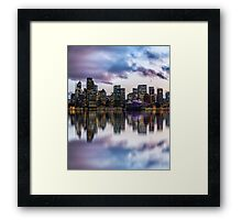 Clouds over Circular Quay Framed Print
