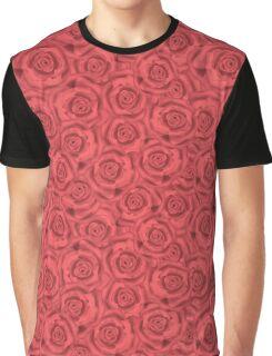 Retro floral  pink roses pattern, digital print  Graphic T-Shirt