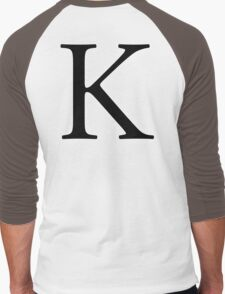 K, Kay, Alphabet Letter, Kilo, King, Kai, A to Z, 11th Letter of Alphabet, Initial, Name, Letters, Tag, Nick Name Men's Baseball ¾ T-Shirt