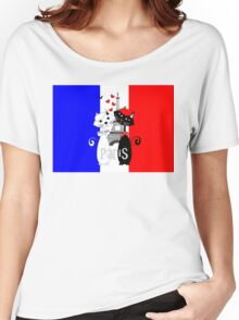 Ooh La La Cat Lovers In Romantic Paris France Women's Relaxed Fit T-Shirt