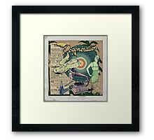 Regeneration Retro Affiche Framed Print