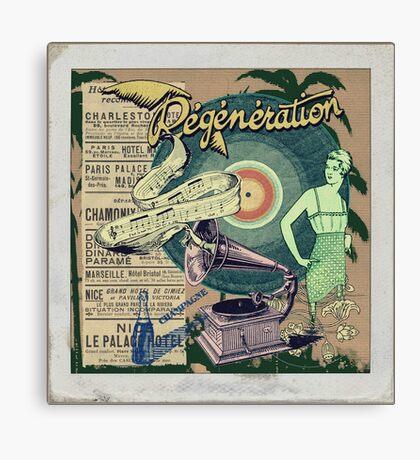 Regeneration Retro Affiche Canvas Print