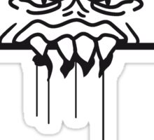 ugly face monster horror halloween grimace eat disgusting wall bleeding bite to eat scratch Sticker