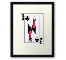 Playing Card Queen of Clubs Turkey version Framed Print
