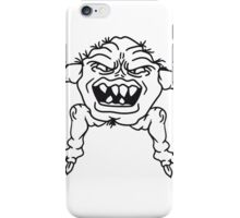 ugly face monster horror halloween grimace eat disgusting hair iPhone Case/Skin