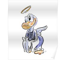 Charcoal and Oil - Angel Donald Duck Poster