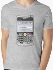 Neutral text Hotel Mens V-Neck T-Shirt