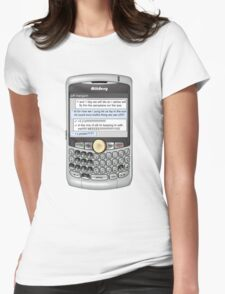 Neutral text Hotel Womens Fitted T-Shirt