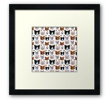 Cat pattern Framed Print