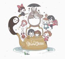 Studio Ghibli Family One Piece - Short Sleeve