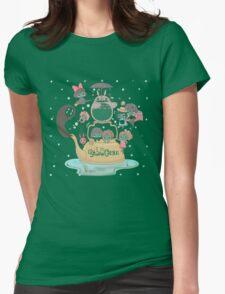 Studio Ghibli Family Womens Fitted T-Shirt