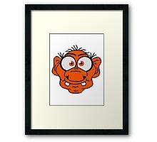 face head ugly disgusting old man grandpa monster troll gnome ork oger Framed Print