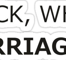 Marriage is a civil right Sticker