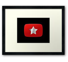 Youtube star. Exclusive logo Framed Print
