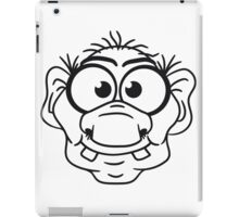 face head ugly disgusting old man grandpa monster troll gnome ork oger iPad Case/Skin
