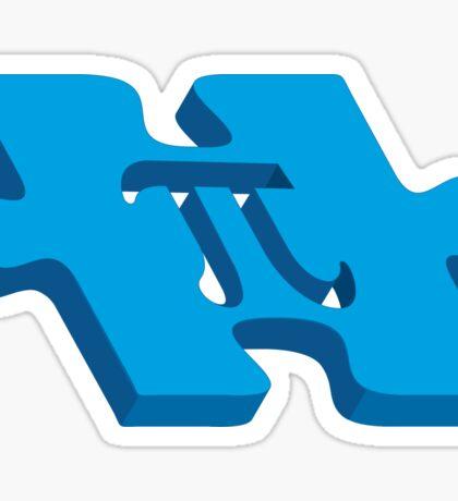 Pi puzzle Sticker