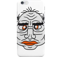 face head ugly disgusting old man grandpa monster troll iPhone Case/Skin