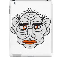 face head ugly disgusting old man grandpa monster troll iPad Case/Skin