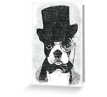 Cute Vintage Dog Wearing Glasses Greeting Card