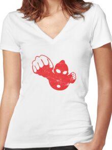 Ultraman 3 Women's Fitted V-Neck T-Shirt