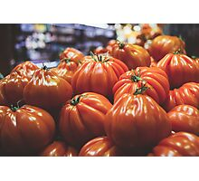 Tomatoes At The Market Photographic Print