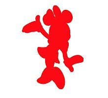 Red Minnie Mouse  Photographic Print