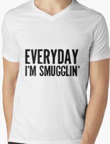 Everyday I'm Smugglin' Mens V-Neck T-Shirt