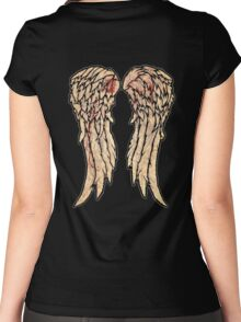 The Walking Dead, Daryl Dixon inspired Wings Women's Fitted Scoop T-Shirt