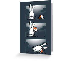 Bunny vs. Hamster Greeting Card