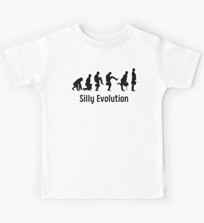Python Silly Walk Evolution T Shirt Kids Tee