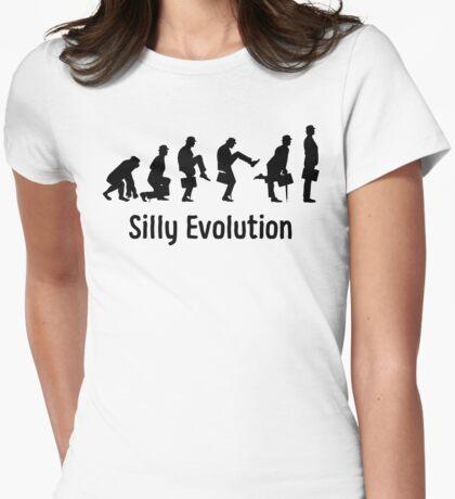 Python Silly Walk Evolution T Shirt Womens Fitted T-Shirt