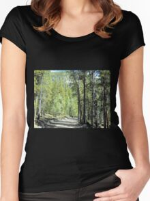 Winding Rural Road Women's Fitted Scoop T-Shirt