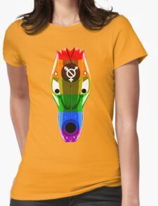 Gay mask design_1 Womens Fitted T-Shirt