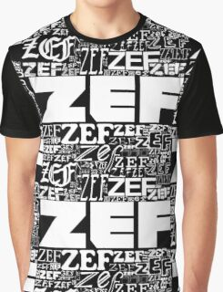 ZEFZEFZEF BLACK Graphic T-Shirt