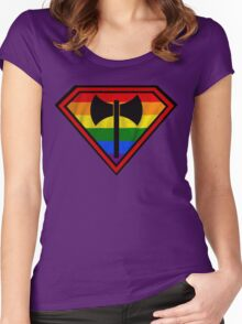 Super Lesbian Hero Women's Fitted Scoop T-Shirt