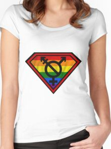 Super Gay Hero _ symbol version Women's Fitted Scoop T-Shirt