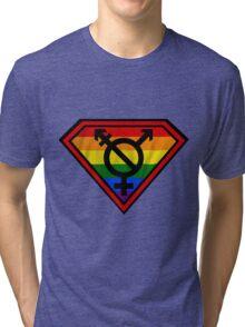 Super Gay Hero _ symbol version Tri-blend T-Shirt