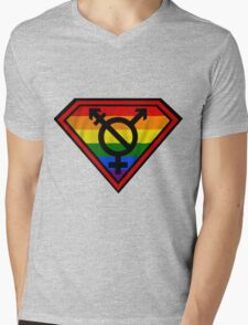 Super Gay Hero _ symbol version Mens V-Neck T-Shirt