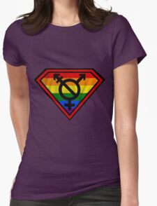 Super Gay Hero _ symbol version Womens Fitted T-Shirt