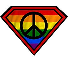 SUPER GAY HERO _peace & love version Photographic Print