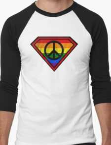 SUPER GAY HERO _peace & love version Men's Baseball ¾ T-Shirt