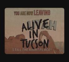 Alive in Tucson - road sign One Piece - Short Sleeve