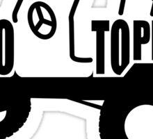 Go Topless Sticker