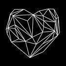 Heart Graphic Black by Mareike Böhmer
