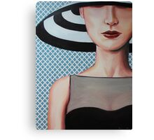hat girl Canvas Print