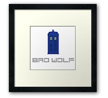 Bad wolf tardis Framed Print