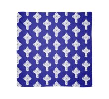 White Rosicrucian Cross on Blue background Scarf