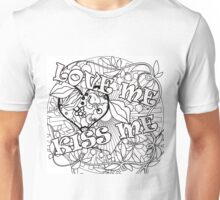 Pattern for coloring on fabric and paper. It's an interesting idea.  Unisex T-Shirt